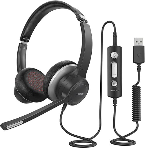 Best Budget Headsets for Podcasting Mpow HC6 USB Headset with Microphone